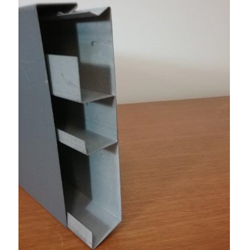 Steel duct 3 channel with marviplate lid - Side view