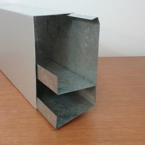 Steel Body & Aluminium cover 2 channel Duct - Side view